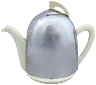 One Kings Lane Vintage English Deco Beehive Teapot with Warmer - Rose Victoria