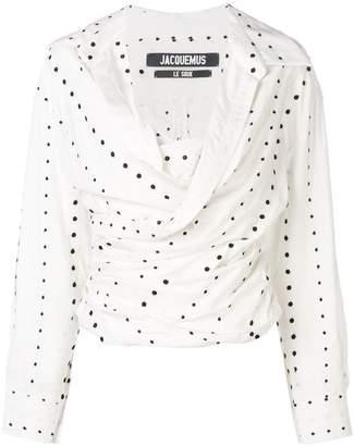 Jacquemus polka dot print blouse