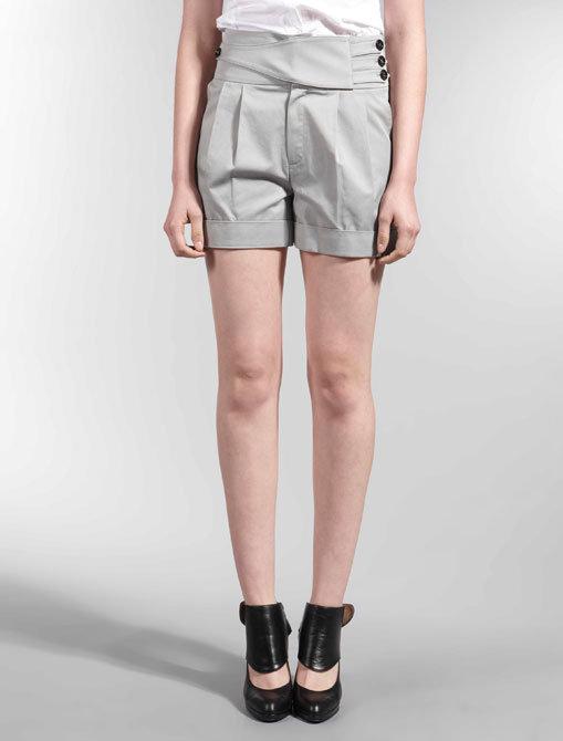 Plastic Island Pleated Shorts
