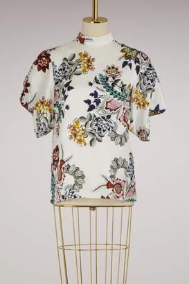 Erdem Omara puffy-sleeved top