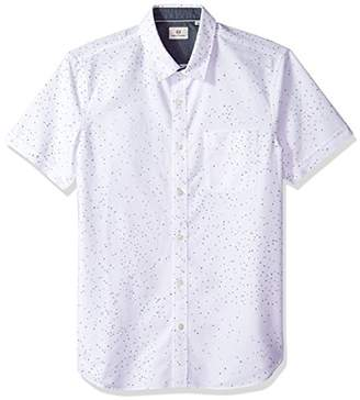 AG Adriano Goldschmied Men's Pearson Short Sleeve Print Button Down Shirt