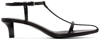 Jil Sander Black Heeled Strap Sandals