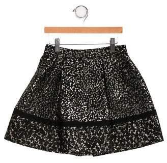 Dolce & Gabbana Girls' Brocade A-Line Skirt