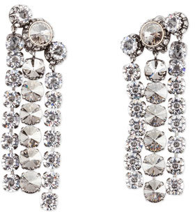 Lanvin Three-Row Crystal Statement Earrings $895 thestylecure.com