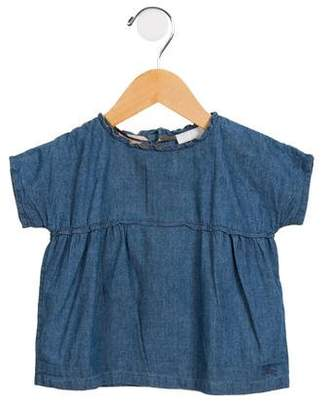 Burberry Girls' Short Sleeve Casual Dress