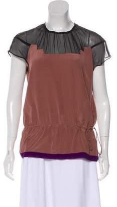 Vena Cava Silk Short Sleeve Top