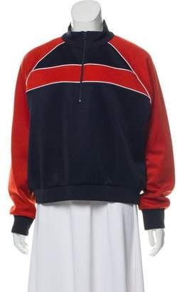 Frame Zip-Up Cropped Sweatshirt w/ Tags