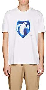 Oamc Men's Ghost-Print Cotton T-Shirt - White