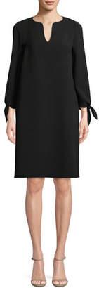 Lafayette 148 New York Khloe Finesse Crepe Shift Dress, Plus Size