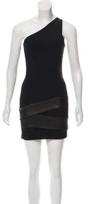 Neil Barrett One Shoulder Knit Dress