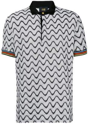 Class Roberto Cavalli zig-zag embroidered polo shirt