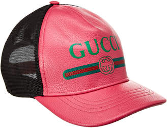 Gucci Print Leather Baseball Cap
