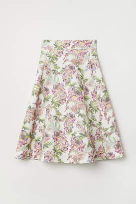 H&M Scuba-look Skirt - White