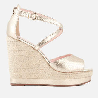 Dune Women's Kandis Leather Wedged Sandals