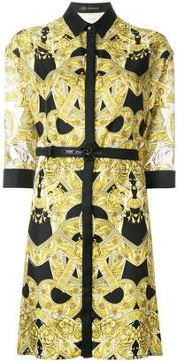 Versace Baroque belted dress