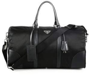 Prada Nylon& Saffiano Leather Duffel