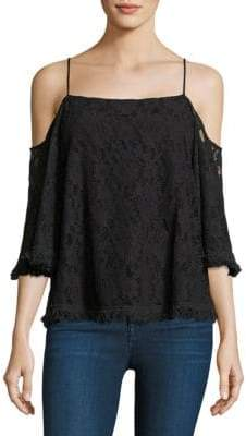 Bailey 44 Tusk Lace Cold-Shoulder Top