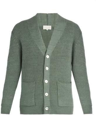 Arjé - Formentera Wool Blend Cardigan - Mens - Green