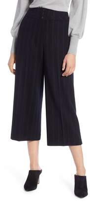 Halogen Stripe Wide Leg Crop Suit Pants (Regular, Petite & Plus Size)