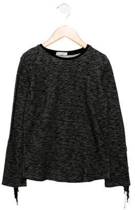 Wolf and Rita Girls' Fringe-Trimmed Knit Top