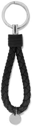 Bottega Veneta Intrecciato Leather Keychain - Black