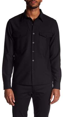 Vince Military Long Sleeve Trim Fit Shirt