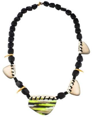 Alexis Bittar Lucite Beaded Talon Necklace