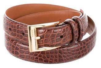 Ralph Lauren Embossed Leather Belt