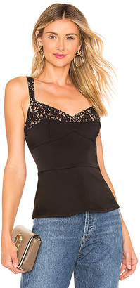 BCBGMAXAZRIA Fitted Peplum Top