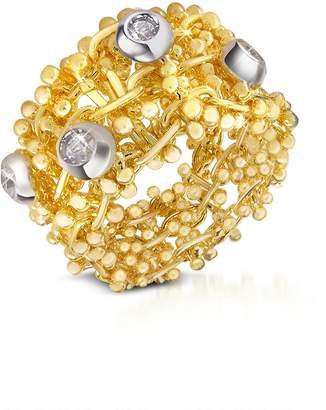 Orlando Orlandini Diamond 18K Yellow Gold Band Ring