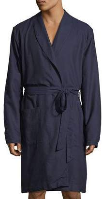 Hanro Select Cotton Shawl-Collar Robe