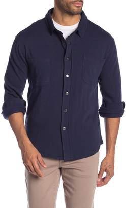 Thomas Dean Solid Fleece Snap Button Shirt