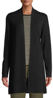 Eileen Fisher Ultrafine Merino Straight Long Cardigan, Petite