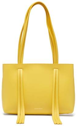 Mansur Gavriel Mini Fringe Leather Tote Bag - Womens - Yellow