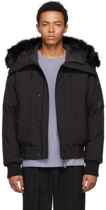 Kenzo Black Hooded Winter Down Jacket