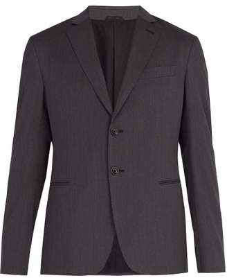 Giorgio Armani Single Breasted Wool Jacket - Mens - Grey