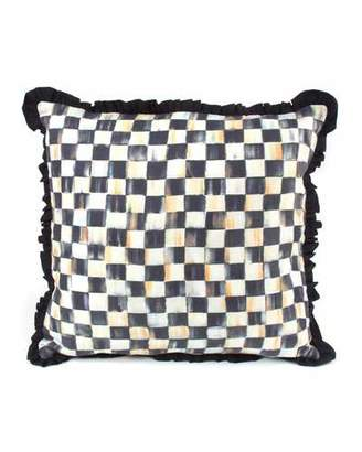 Mackenzie Childs MacKenzie-Childs Courtly Check Ruffled Square Pillow