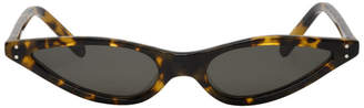 Cat Eye George Keburia Tortoiseshell Micro Cat-Eye Sunglasses