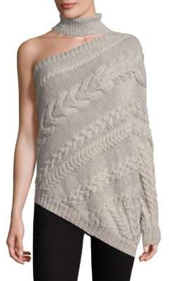 One-Shoulder Choker Sweater