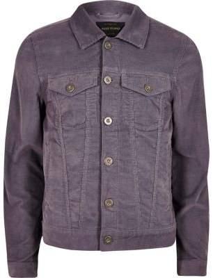 River Island Mens Purple cord jacket