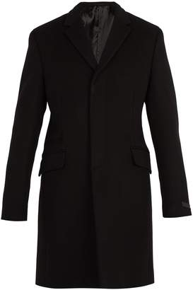 Prada Single-breasted wool and cashmere overcoat