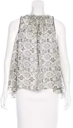 Isabel Marant Abstract Print Silk Top