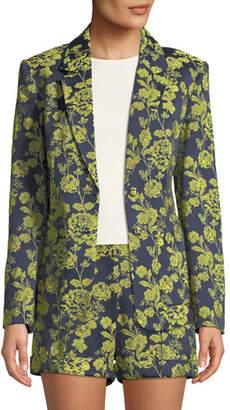 Cinq à Sept Janae Structured Floral Jacket