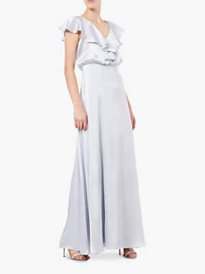Adrianna Papell Hammered Ruffle Maxi Dress