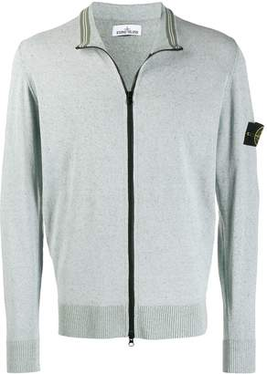 Stone Island high neck zipped cardigan