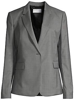 BOSS Women's Jeniver1 Natural Stretch Wool Optic Suiting Jacket - Size 0