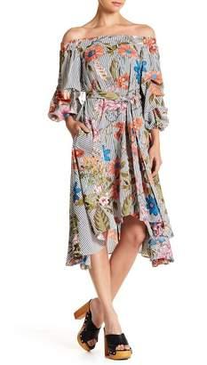 Gracia Cutout Off-the-Shoulder Ruffle Dress
