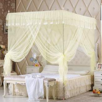 Kadell Elegant Bed Netting, Luxury Princess Style Four Corner Post Mosquito Net Bed Curtain Panel Bedding Canopy