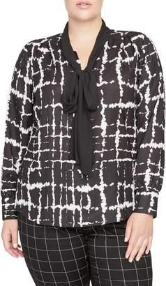 Rachel Roy Collection Jasper Tie Neck Top