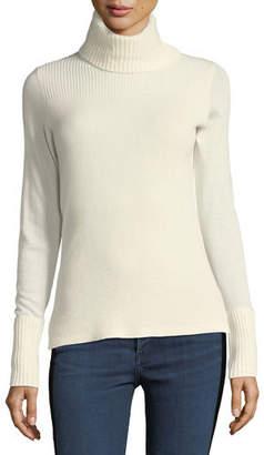 Veronica Beard Asa Long-Sleeve Turtleneck Cashmere Sweater